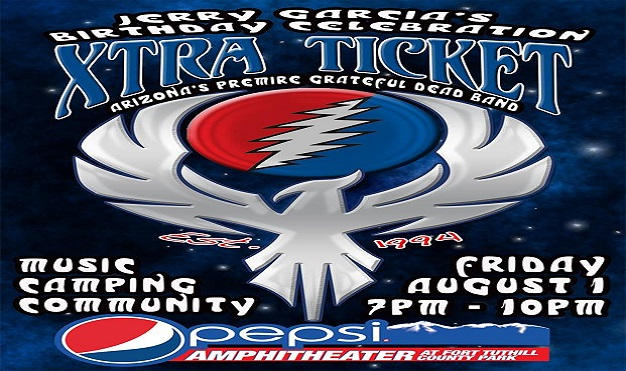 Jerry Garcia Birthday Party Extra Ticket Grateful Dead Tribute