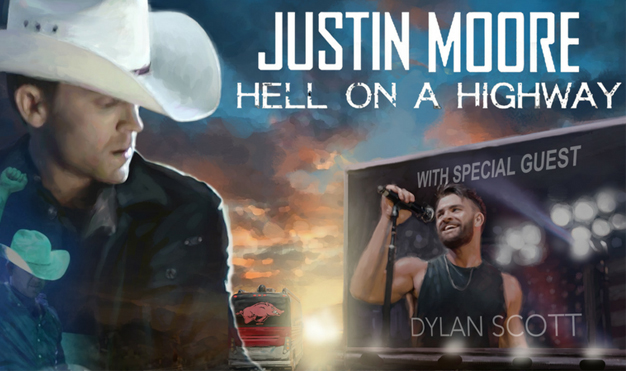 Justin Moore<br>Hell On A Highway Tour