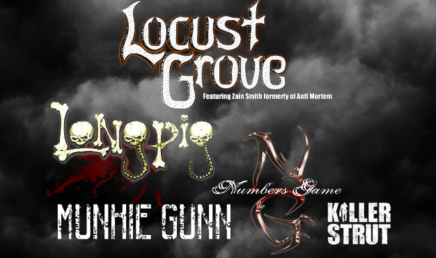 The Local Showcase<br>with Locust Grove (featuring Zain Smith, formerly of Anti Mortem)